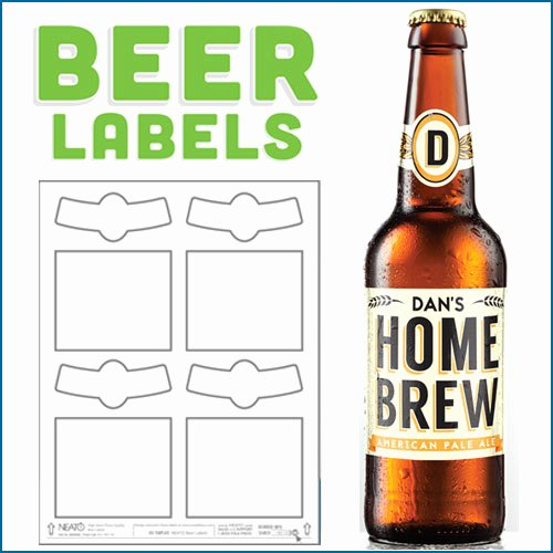 Blank Beer Labels Water Resistant Peel F with Easy