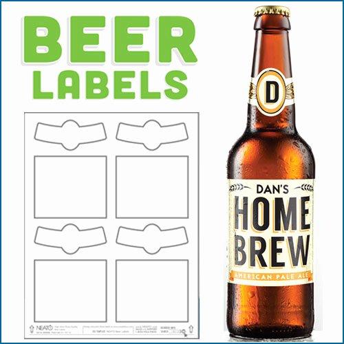 Blank Beer Labels Water Resistant Peel F with Easy