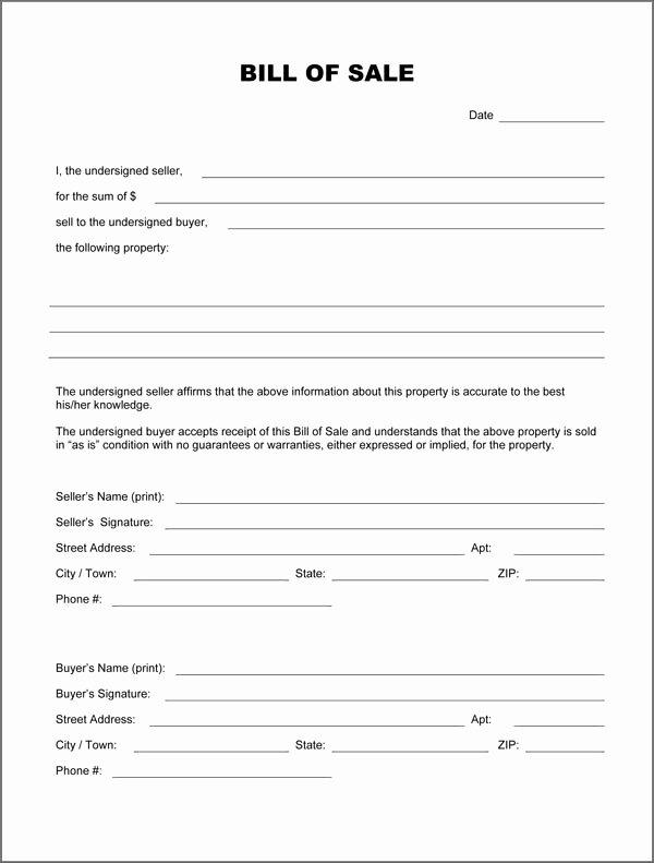 Blank Bill Sale form Download Pdf Doc formats