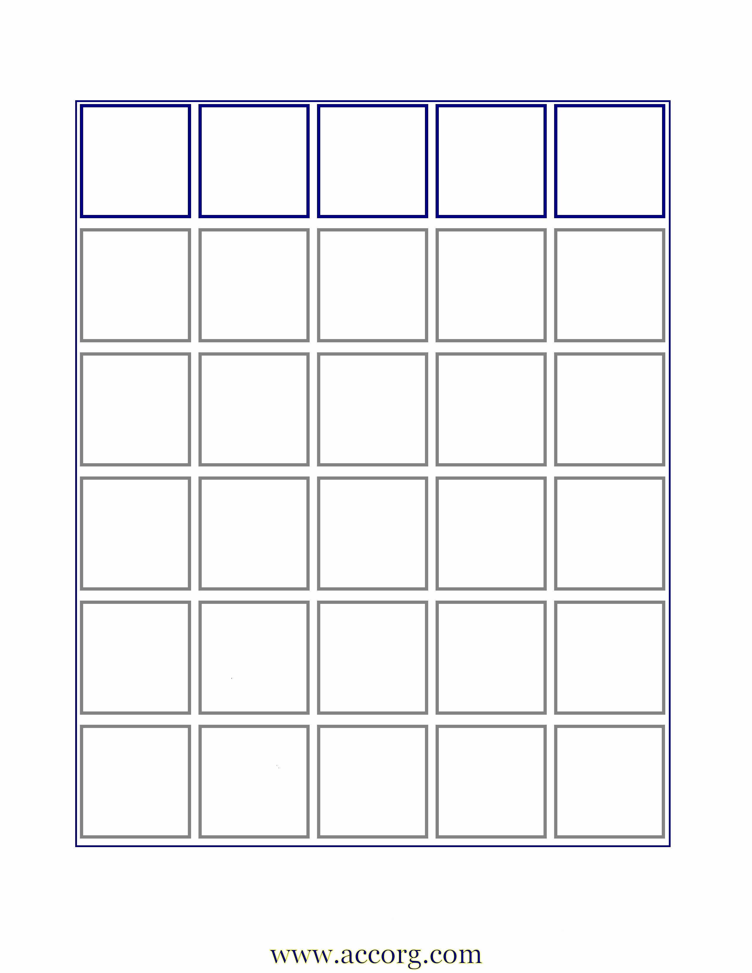 Blank Bingo Card Template Beautiful Template Design Ideas