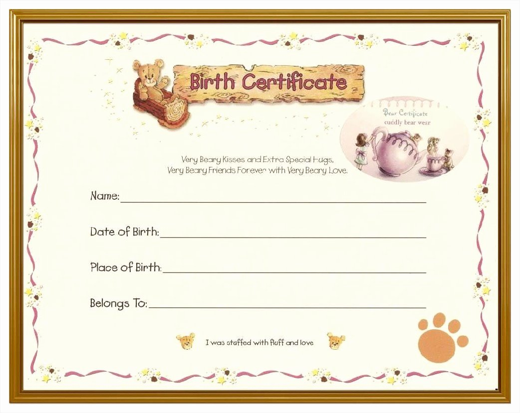 Blank Birth Certificate Template Mughals