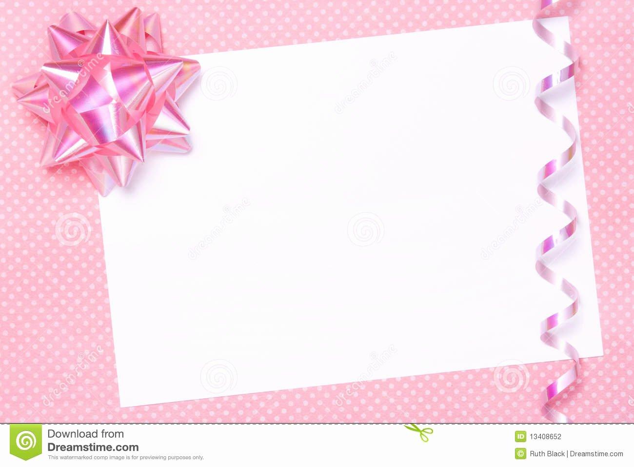 Blank Birthday Invitation Card Design First Birthday