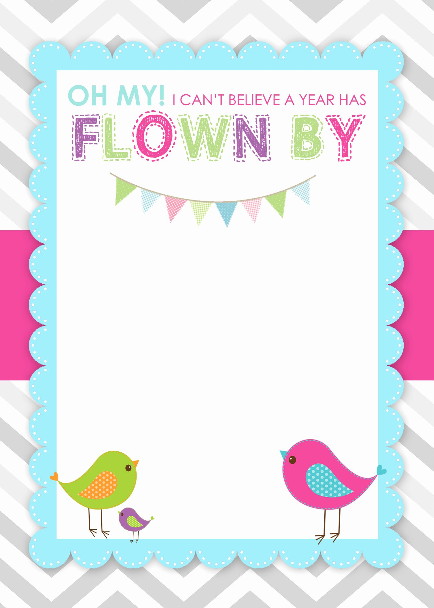 Blank Birthday Invitations Template