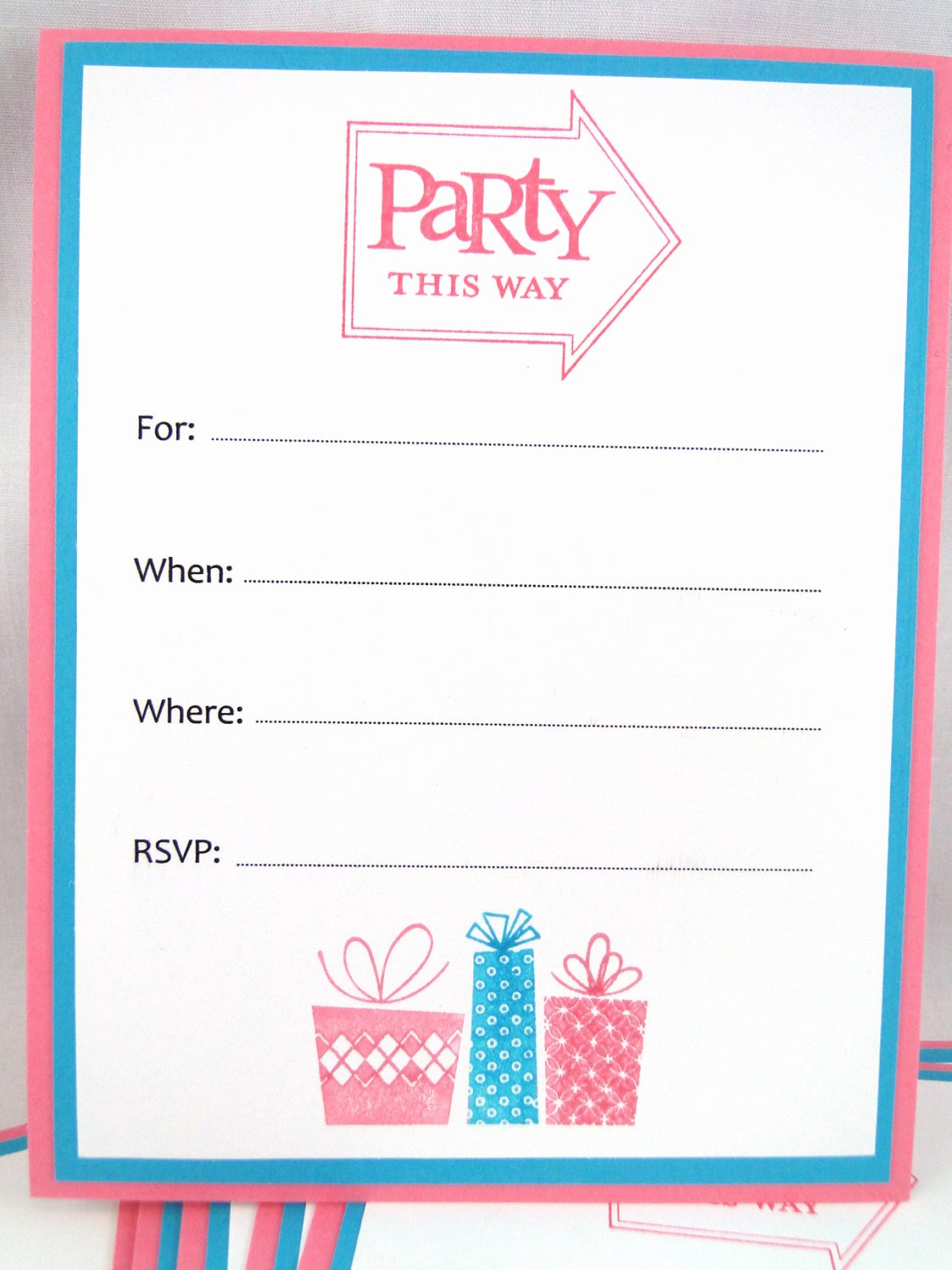 Blank Birthday Party Invitation Template Affordable