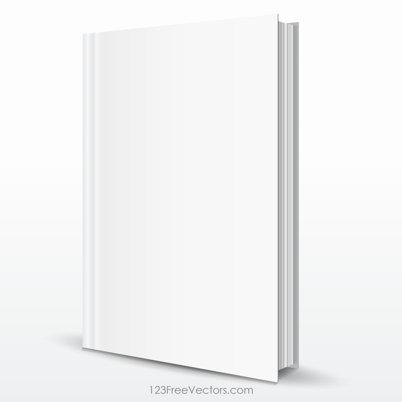 Blank Book Cover Template Free Vectors