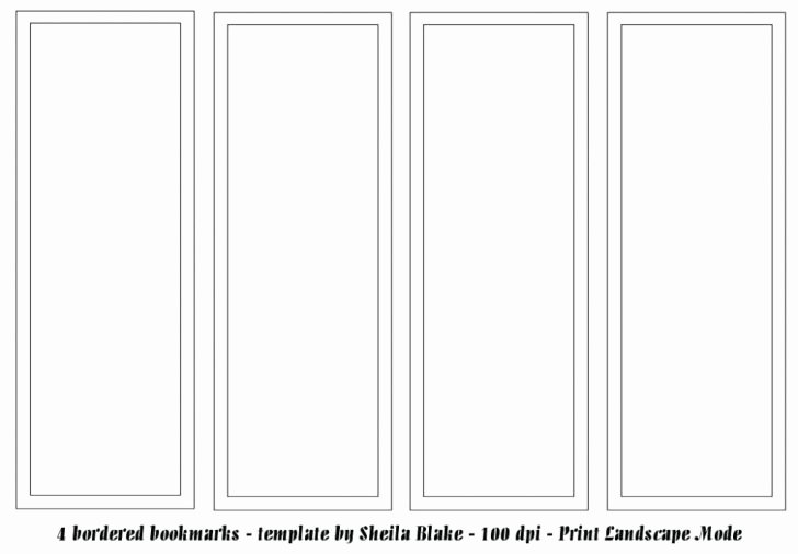 Blank Bookmark Template Free