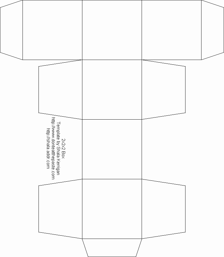 Blank Box Template Free Box Templates to Print for T