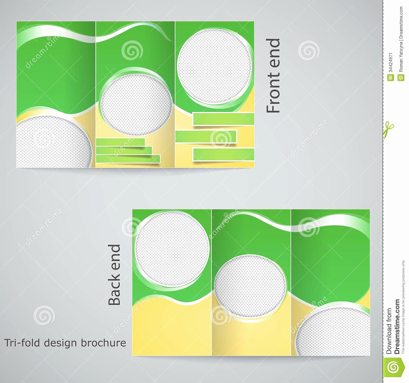 blank brochure template example