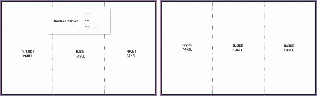 Blank Brochure Template Google Docs to Fold C Class
