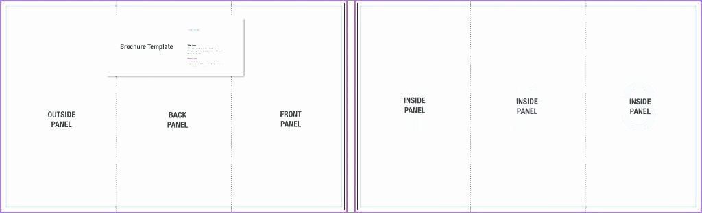 Blank Brochure Template Google Docs to Fold C Class
