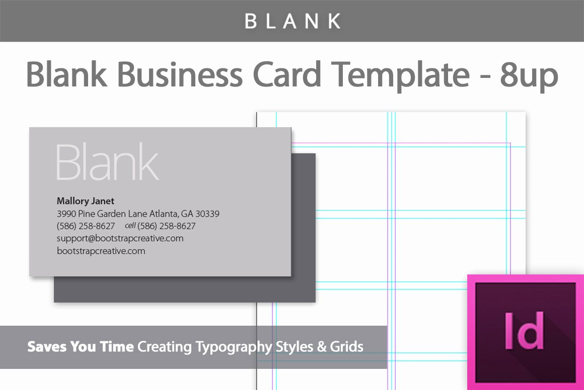 Blank Business Card Template 8 Up Business Card