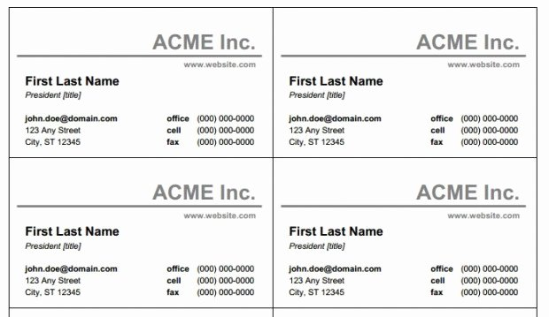 Blank Business Card Template Free