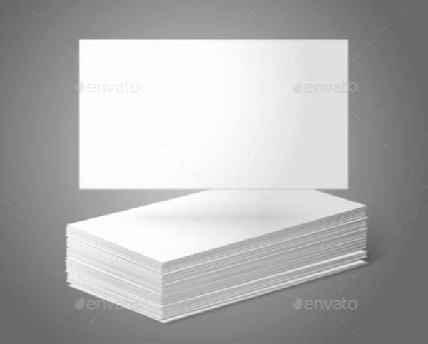 Blank Business Card Template Illustrator 3