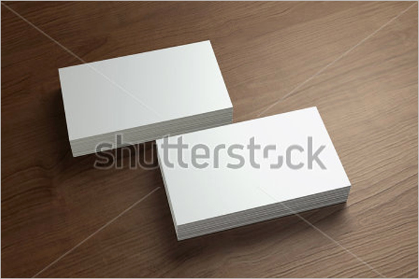 Blank Business Card Template Illustrator