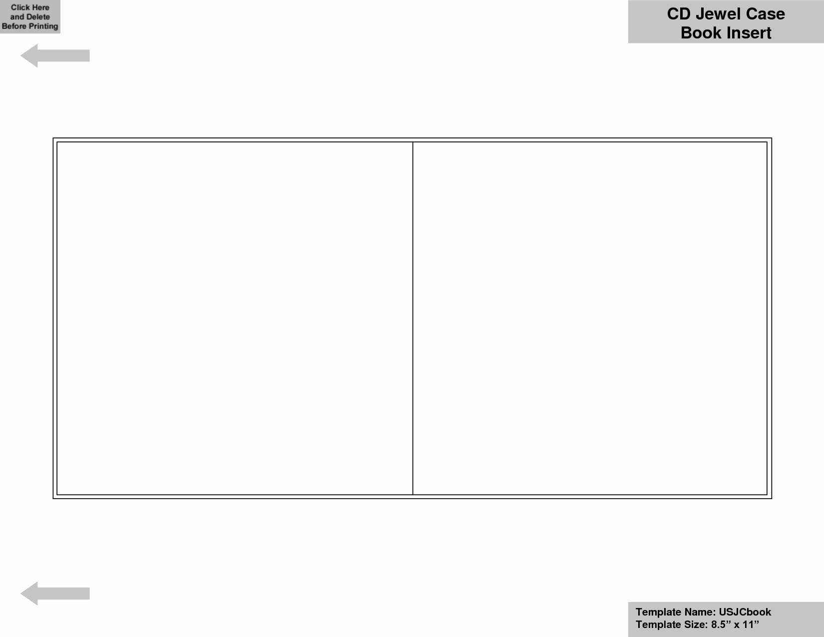 Blank Cd Booklet Template Word Templates Resume