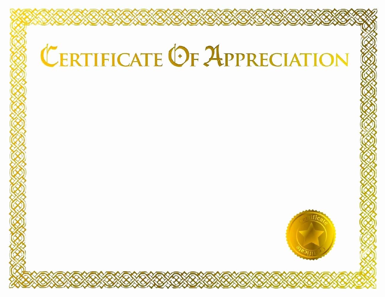 Blank Certificate Appreciation Templates
