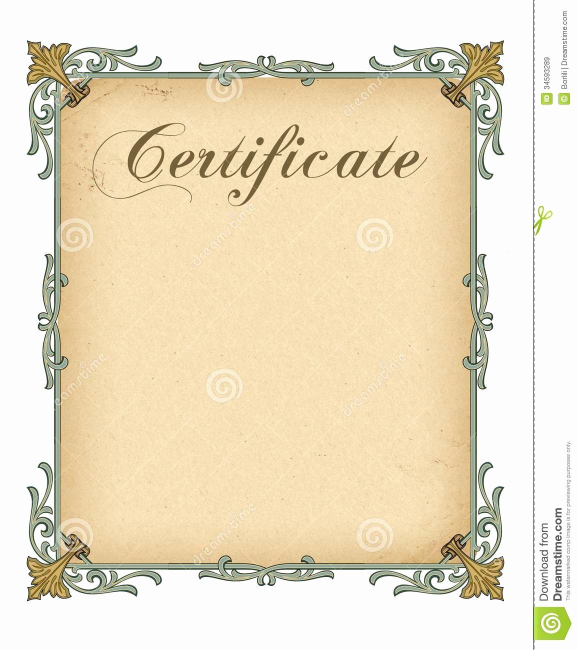 Blank Certificate Template Free Download Templates Data