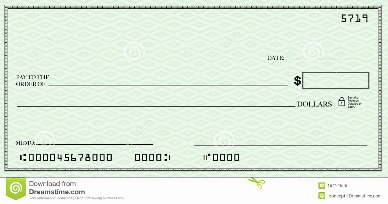 Blank Check Clipart