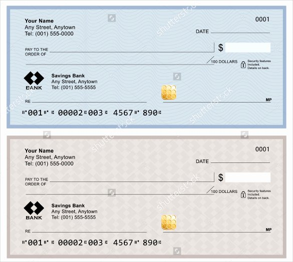 Blank Check Template – 30 Free Word Psd Pdf & Vector