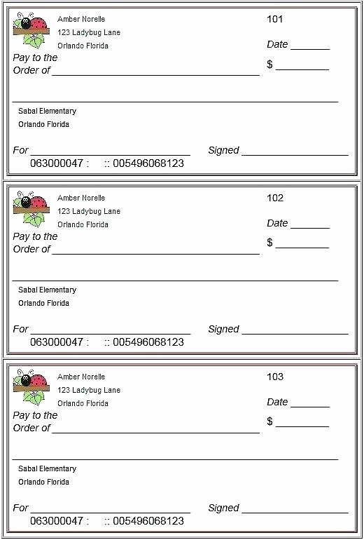 Blank Check Template Free Word Vector Novelty Cheque