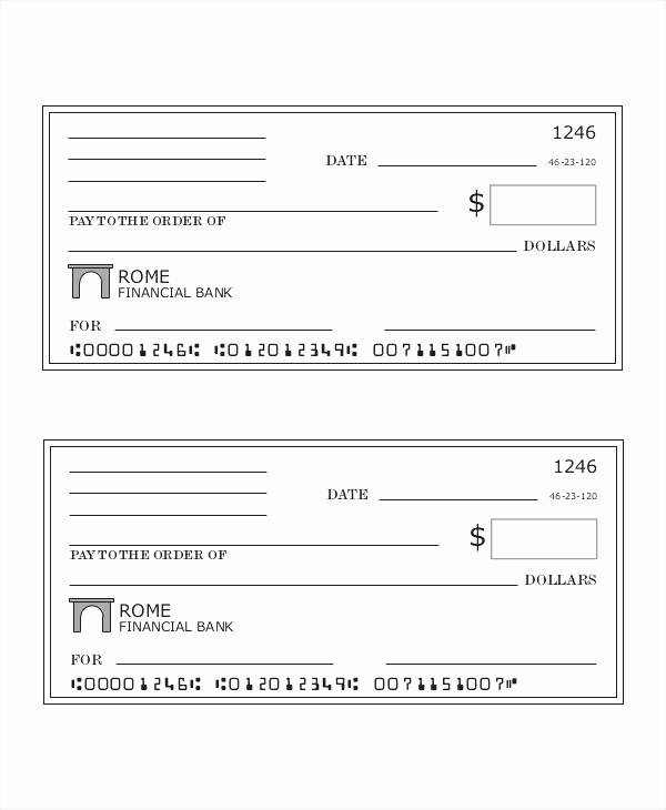 Blank Check Template Word Wine Bank Excel Checks isolated