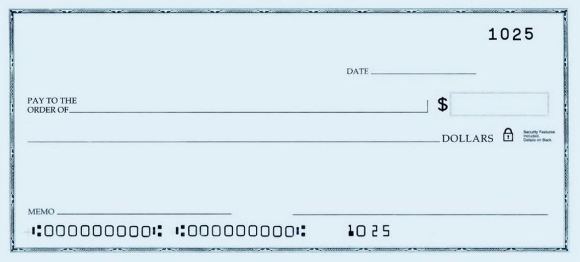 Blank Checks Printable