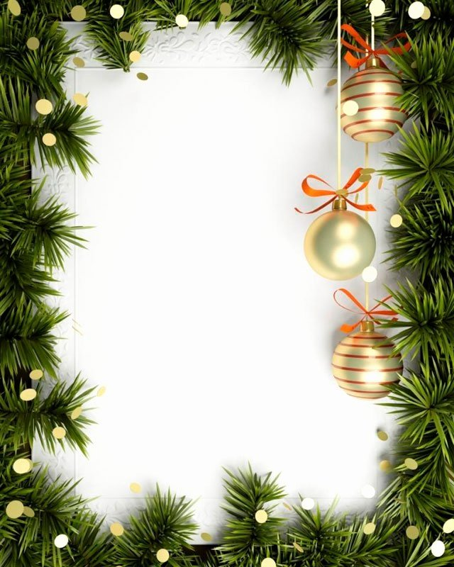 Blank Christmas Invitation Background