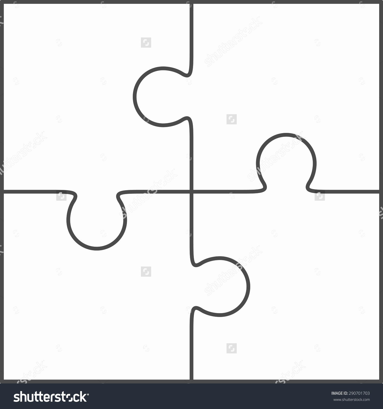 Blank Clipart Jigsaw Puzzle Shape Clipart Collection