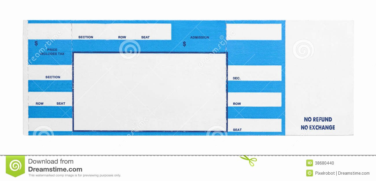 Blank Concert Ticket Clipart