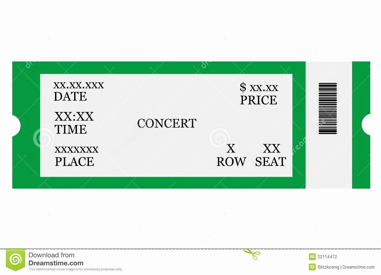 Blank Concert Ticket Template Mughals