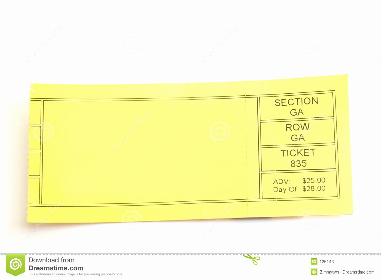 Blank Concert Ticket Template Mughals