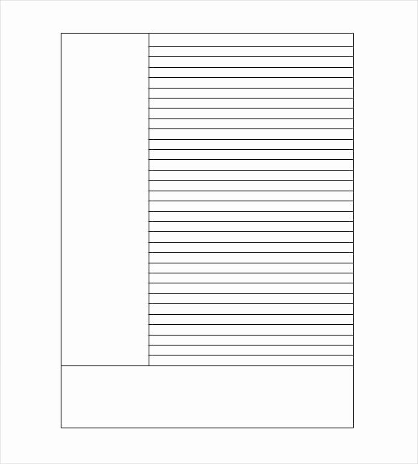 Blank Cornell Note Template 4 Free Sample Example