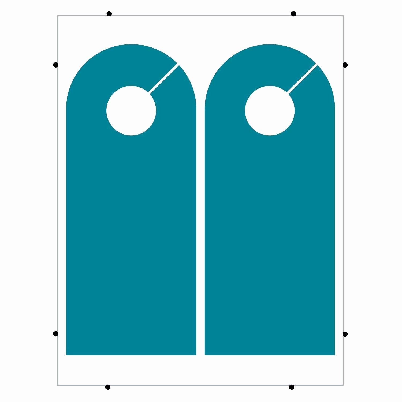 Blank Door Hangers & Door Knob Hangers Blank Seton Blank
