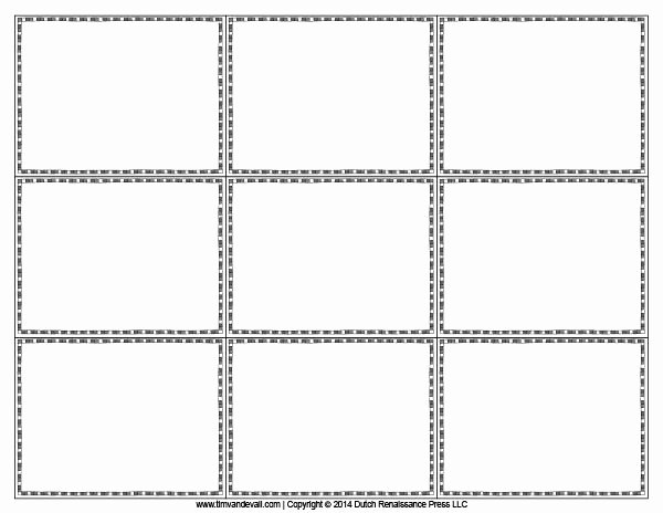 Blank Flash Card Templates Printable Flash Cards