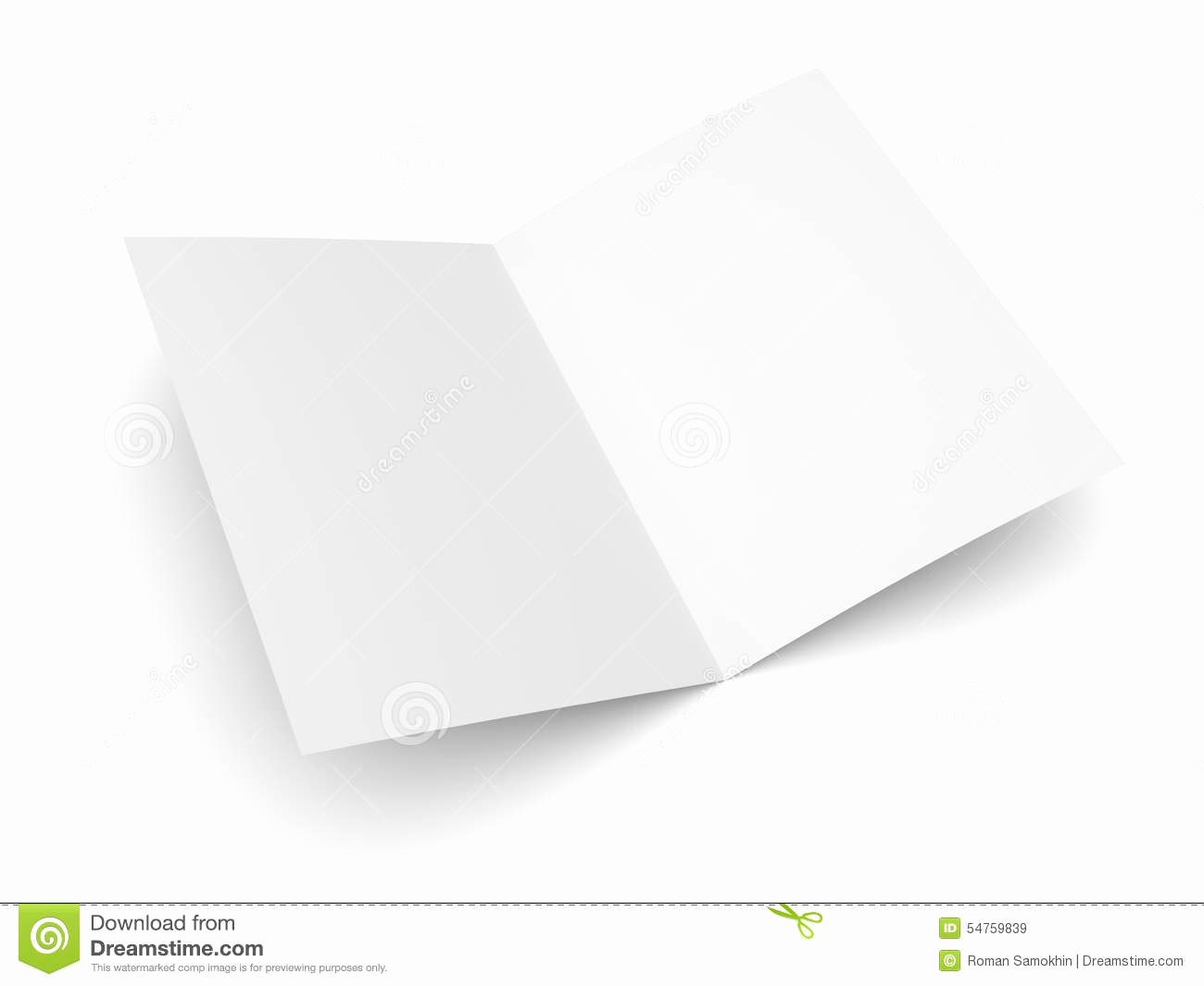 Blank Folded Flyer Booklet Postcard Business Card