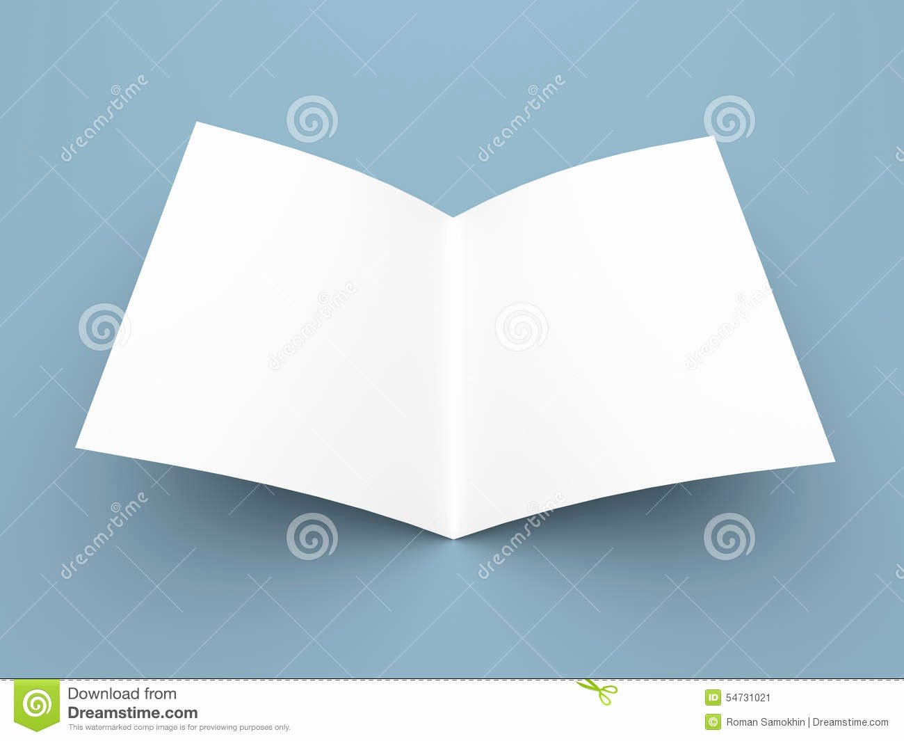 Blank Folded Flyer Booklet Postcard Business Card