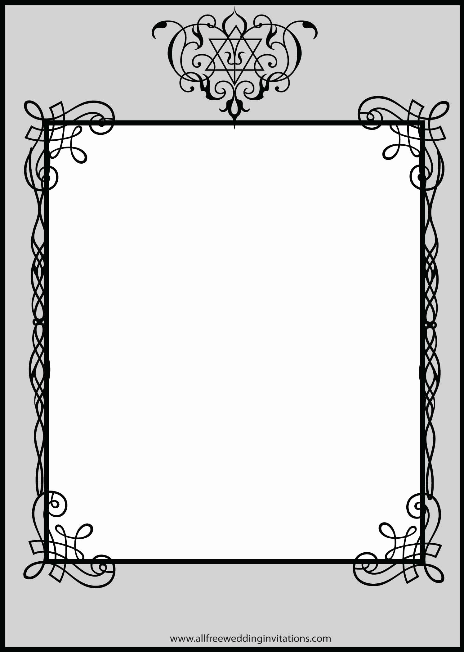 Blank formal Invitation Template