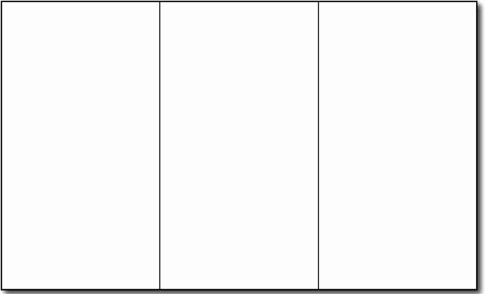 Blank Four Fold Brochure Template Templates Resume