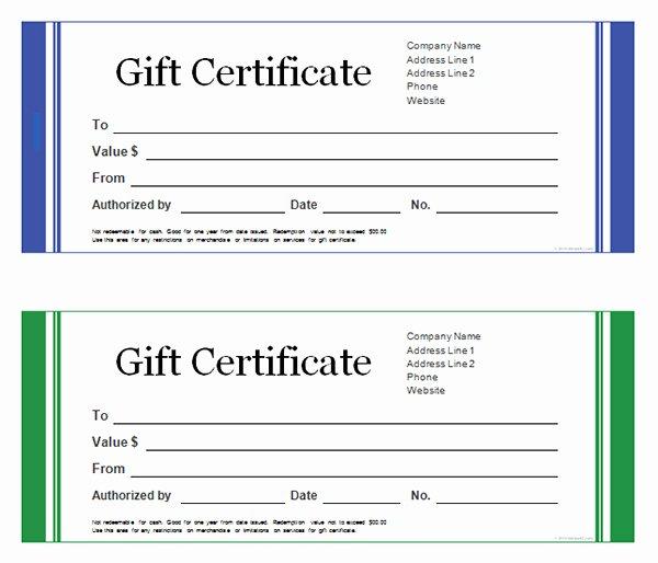 Blank Gift Card