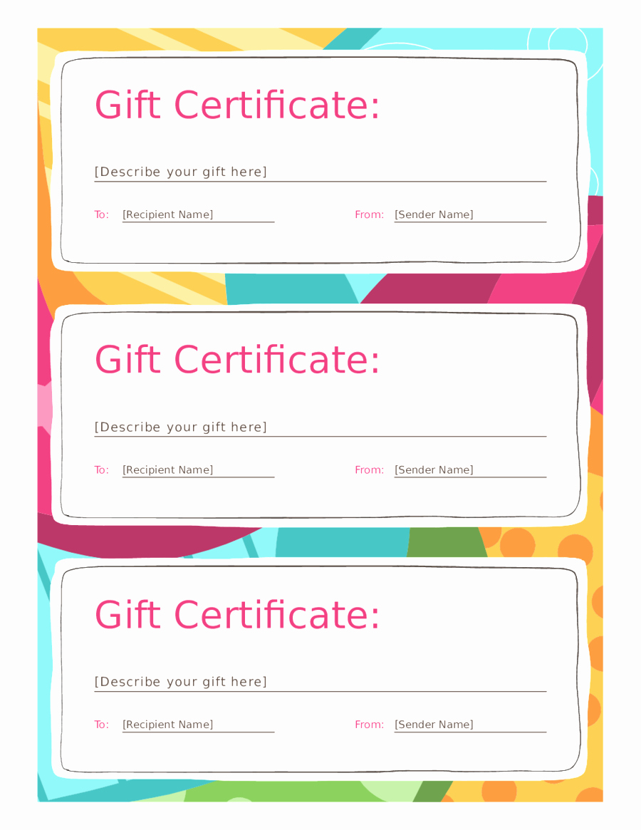 Blank Gift Certificate Template Mughals