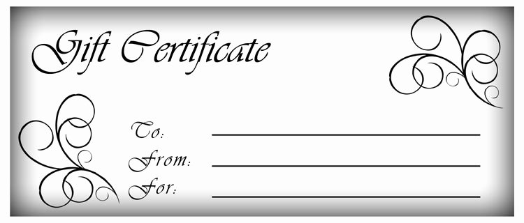 Blank Gift Certificate Template Word