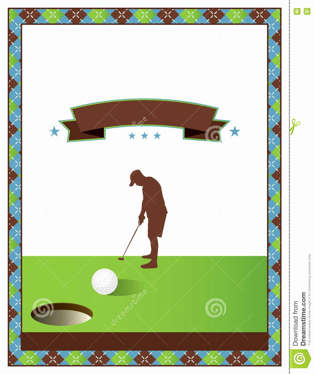 Blank Golf tournament Flyer Template Stock Vector Image