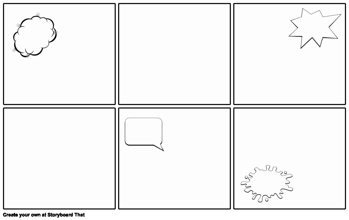Blank Ic Strip Template Storyboard by Emily
