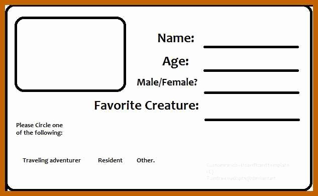 Blank Id Card Template