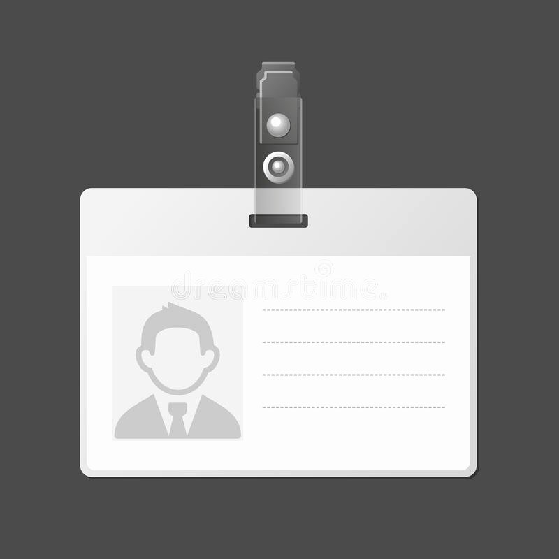 Blank Identification Card Badge Id Template Vector Stock