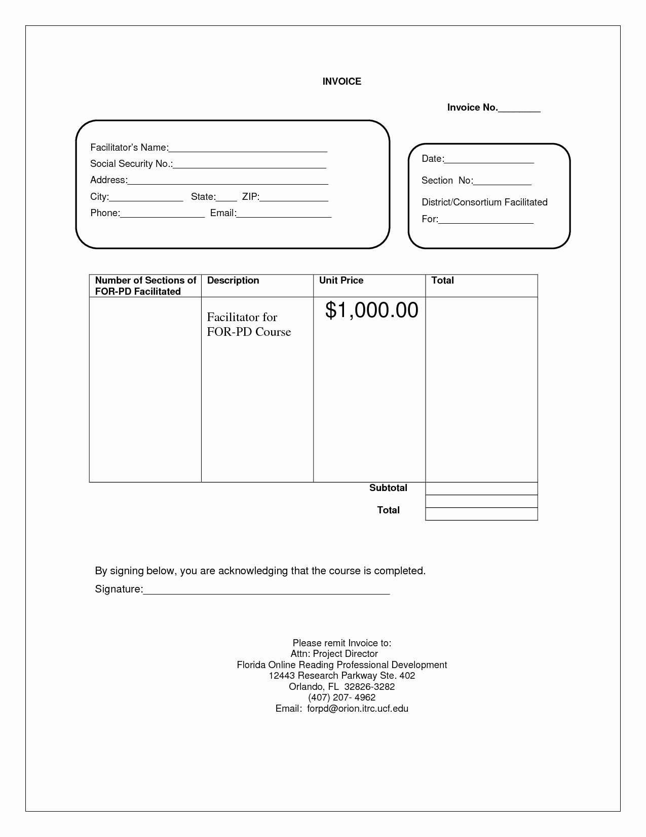 Blank Invoice Doc – Templates Free Printable
