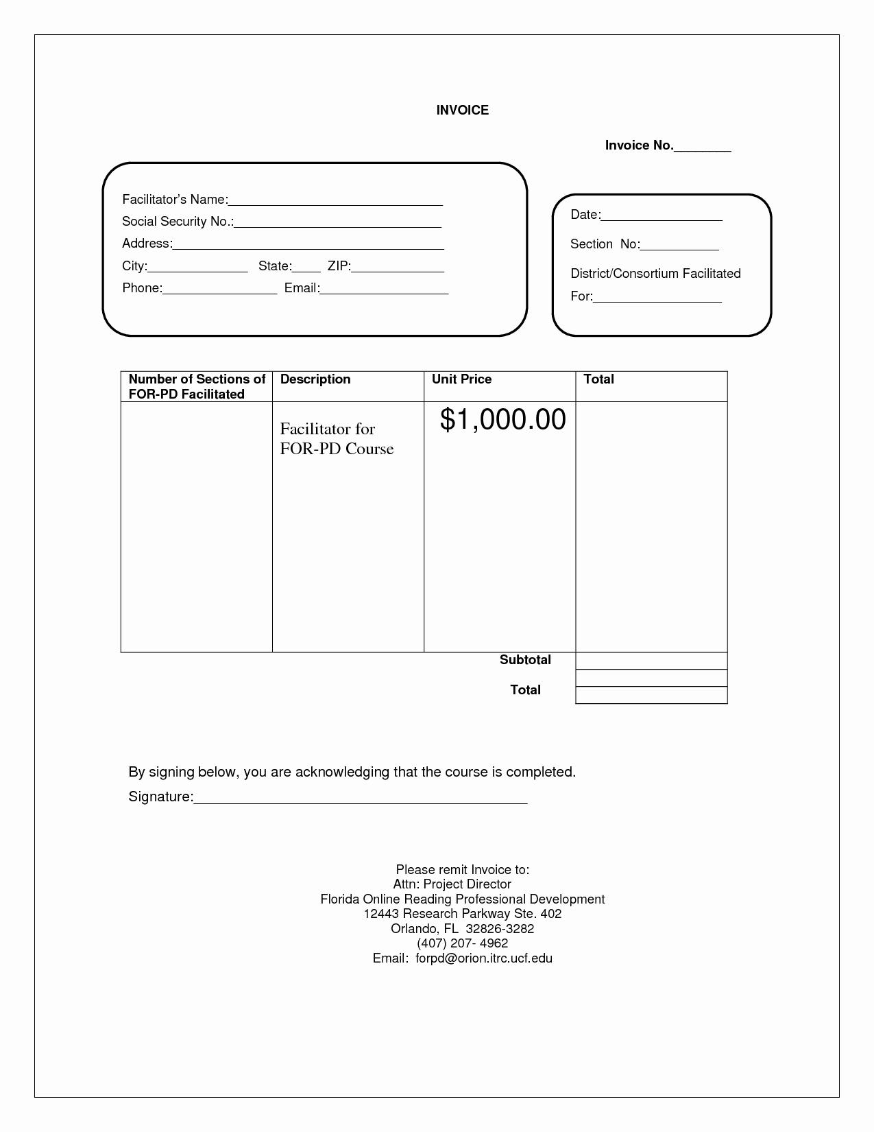 Blank Invoice Doc – Templates Free Printable