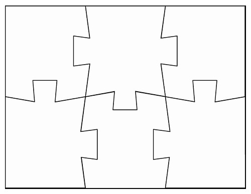 Blank Jigsaw Puzzle Templates