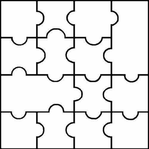 Blank Jigsaw Templates Clipart Best