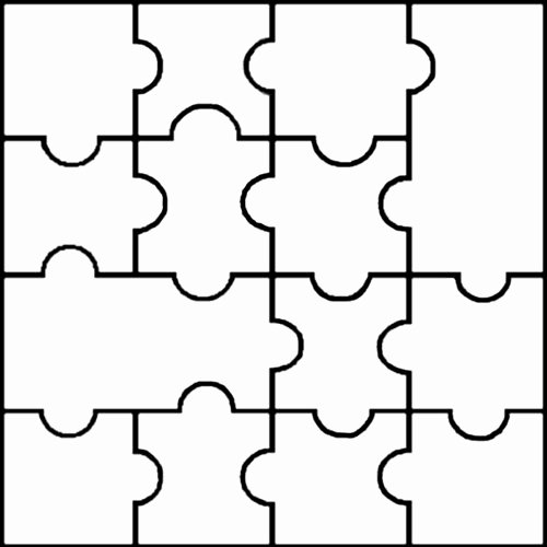 Blank Jigsaw Templates Clipart Best